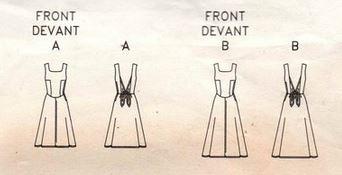 Vogue 2507 dress sketch