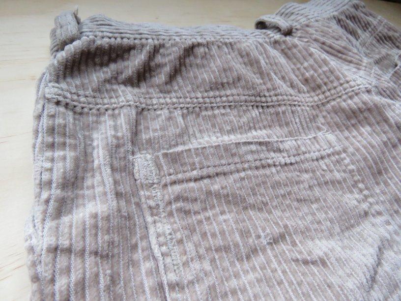 Goodbye taupe corduroy trousers back pocket