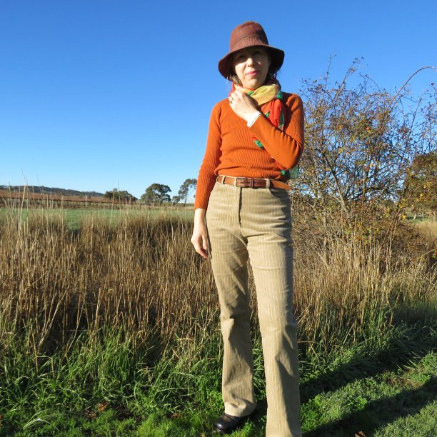 Hello New taupe corduroy trousers worn by Liz 2