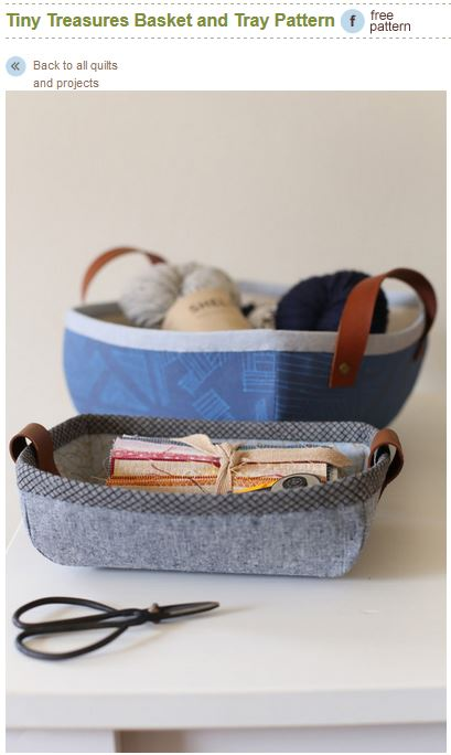 Pattern recommendation Noodlehead tray and basket set
