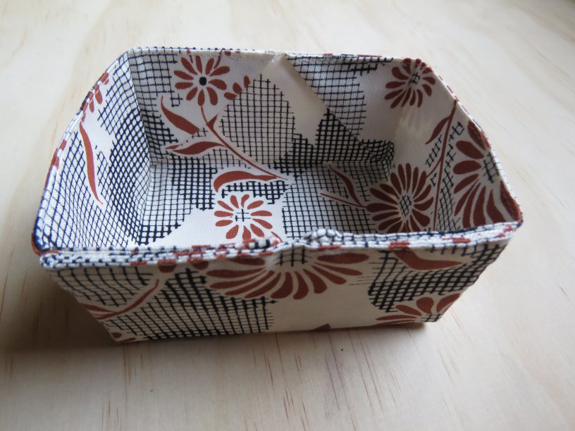 Pattern recommendation Stitched Sewing Organizers fabric box