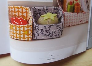Stitched Sewing Organizers fabric boxes