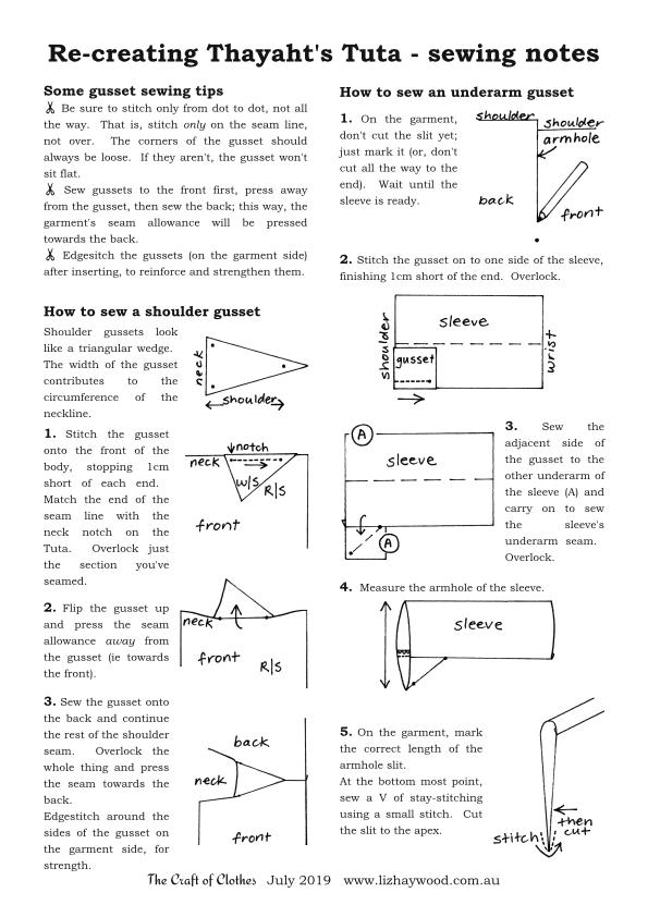 Thayahts Tuta How to sew gussets page 1