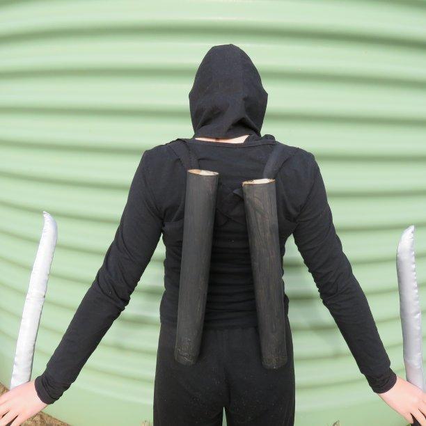Ninja vs Incredibles book week costumes scabbard 2
