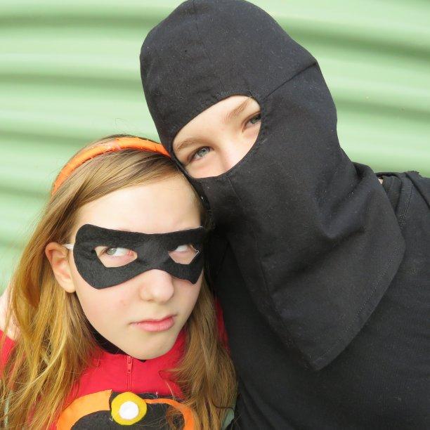 Ninja vs Incredibles book week costumes