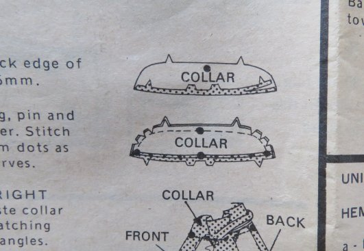 Style 2685 collar instructions