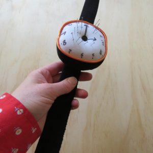 Clock pincushion held