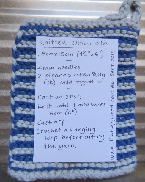 Dishcloth free pattern Liz Haywoods