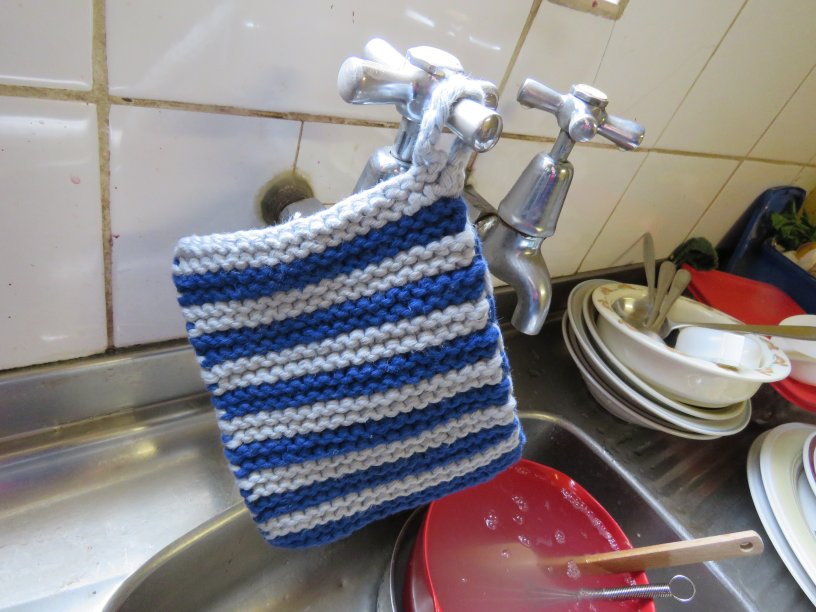 Dishcloth free pattern hanging dishcloth