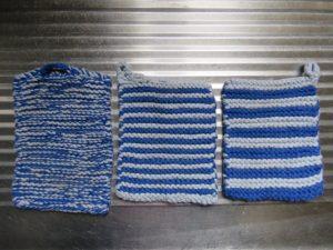 Dishcloth free pattern three dishcloths