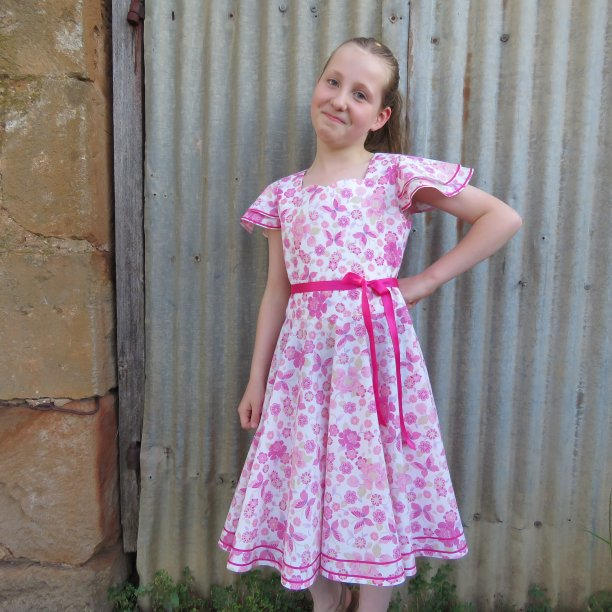 Country show dress modelled