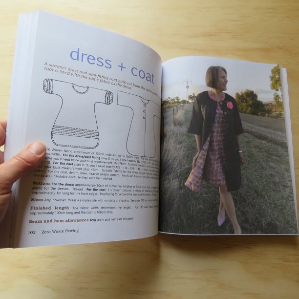 Zero Waste Sewing Book interior dress and coat