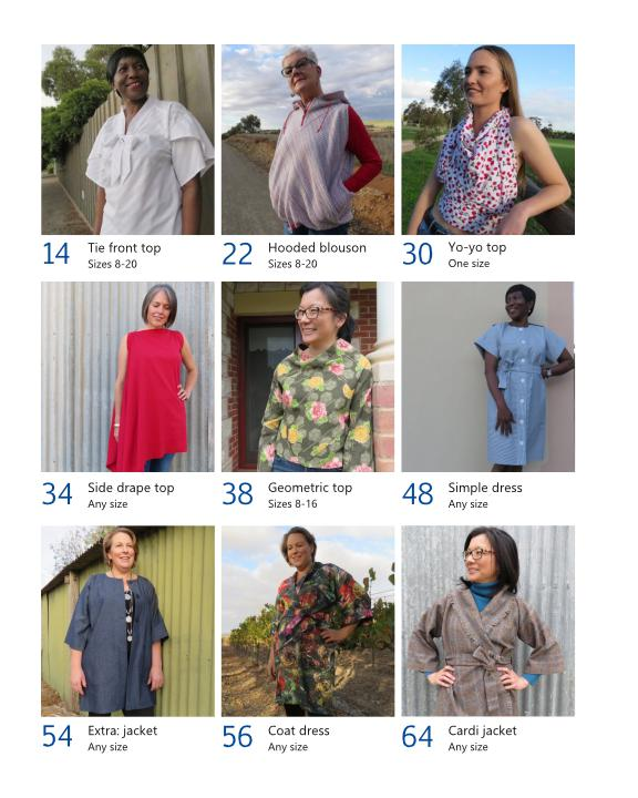 Zero Waste Sewing book September 20 All projects at a glance