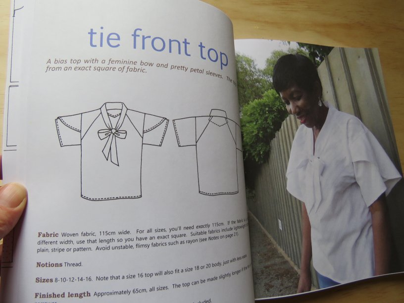 Zero Waste Sewing book interior tie front top