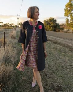 Tessellated coat and dress