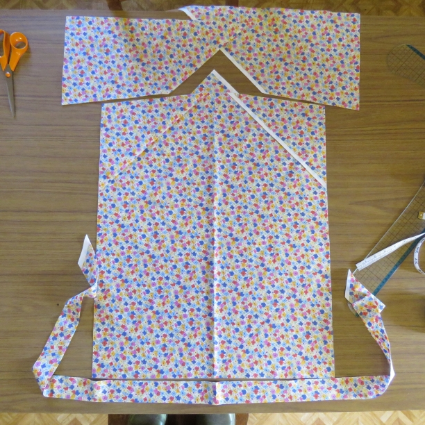 zero waste tie front top cutting out