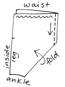Magi trousers sewing diagram