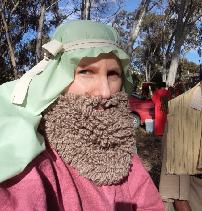 Knitted beard in pageant