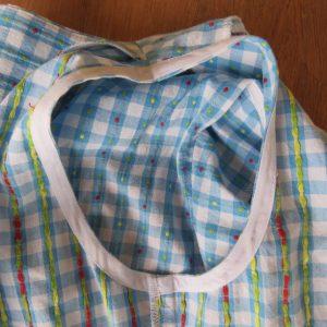 bias facings dress armhole