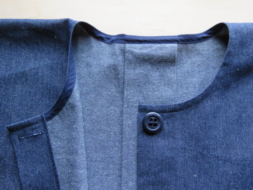bias facings example from zero waste sewing