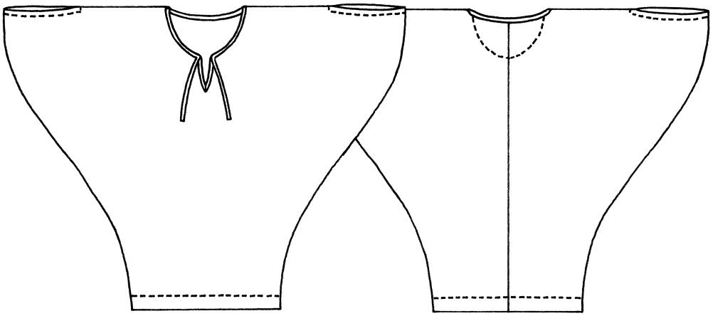 Boho dress sketch