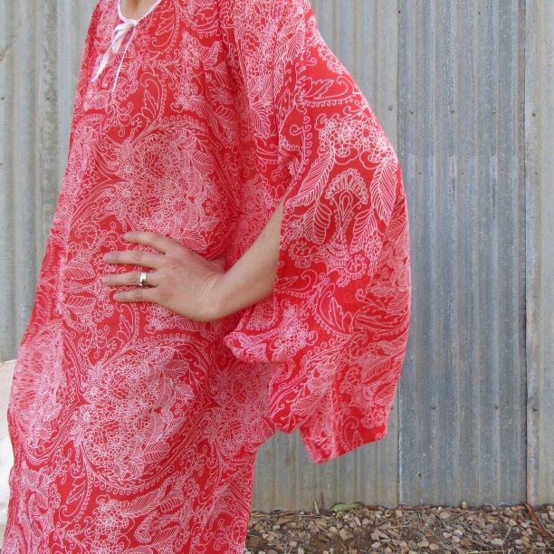 Boho dress sleeve closeup