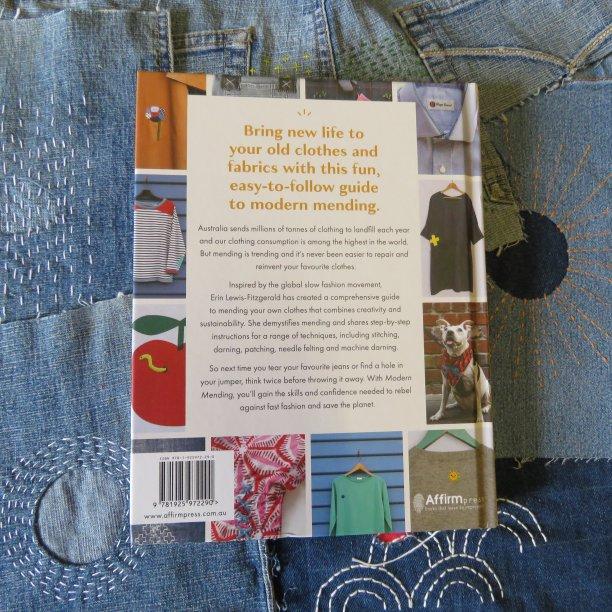 Modern mending book cover back