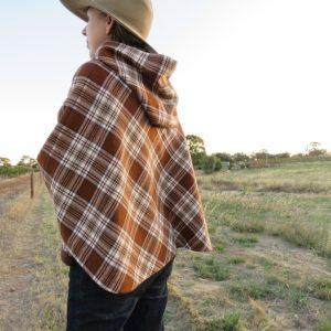 zero waste hooded blouson cape 5