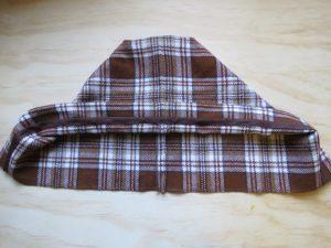 zero waste hooded blouson hood detail