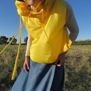 zero waste hooded blouson yellow version 1