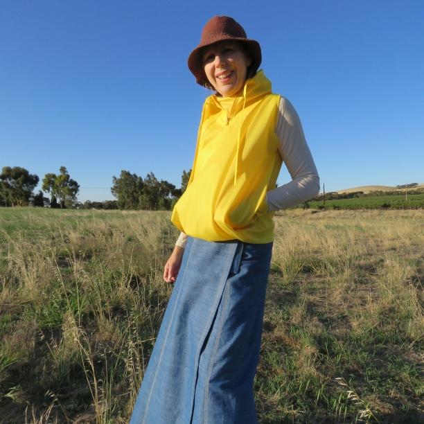 zero waste hooded blouson yellow version 2