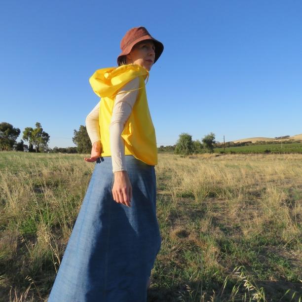 zero waste hooded blouson yellow version 4
