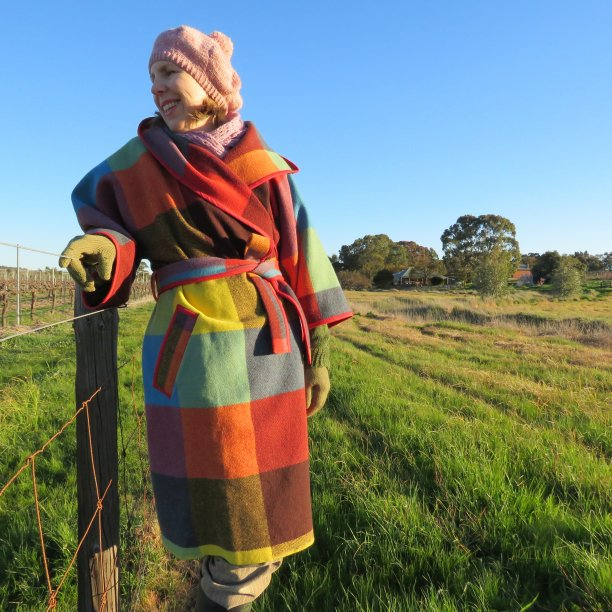 Coat from a blanket zero waste