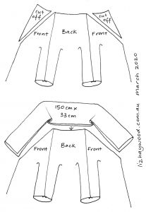 zero waste coat collar diagram