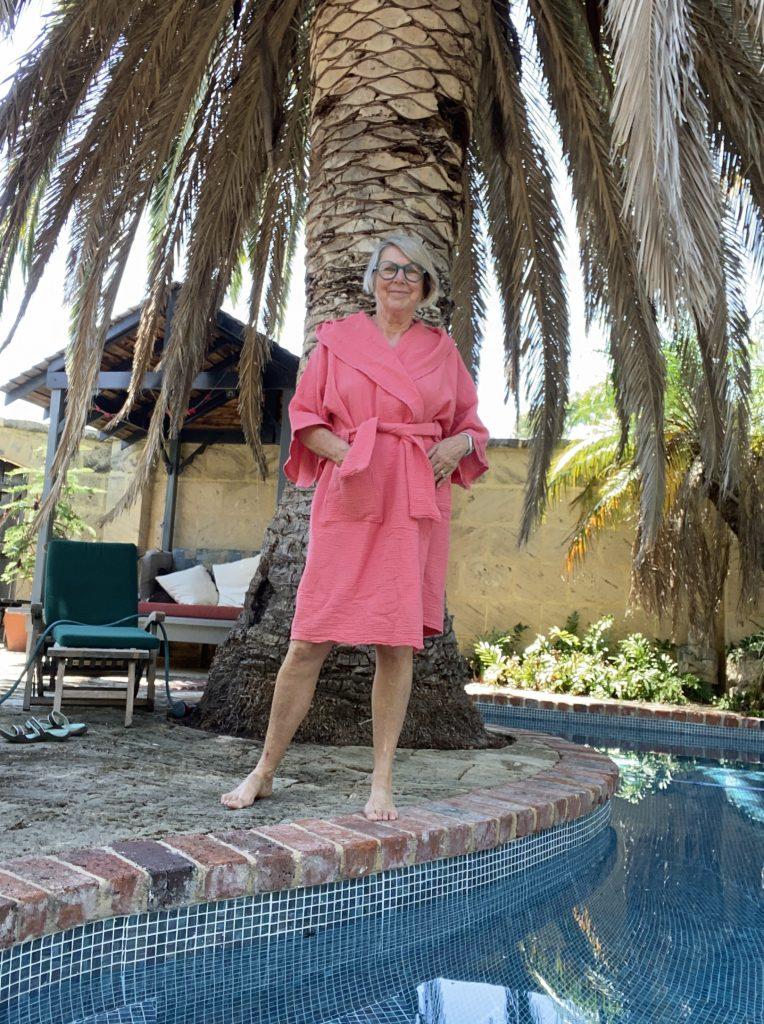 zero waste sewing blog tour Sue Stoney peach bathrobe