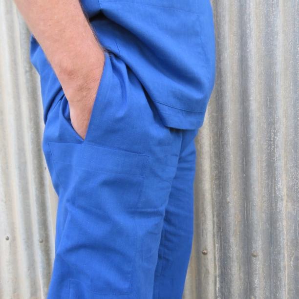 Free pattern scrubs side pocket