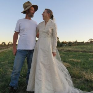 Wedding dress bride and groom 21 years on