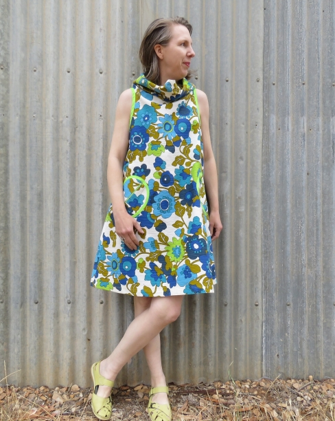 zero waste Lillypilly dress in curtain fabric