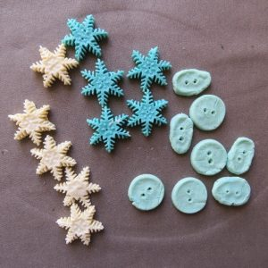 Buttons from milk plastic