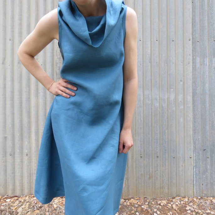 Lillypilly dress zero waste blue dress