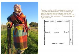 Coat from a blanket one-seam