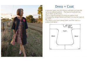 Tessellated dress and coat