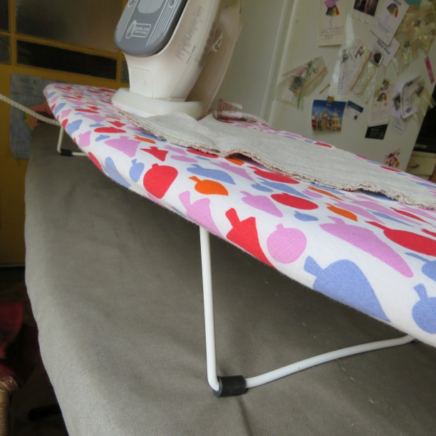 sewing ergonomics the mini ironing board in action