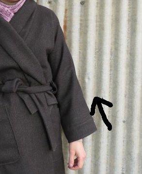 zero waste jedi coat revisited coat sleeves with arrow
