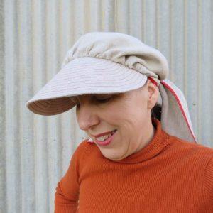 Clair hat zero waste three quarter view