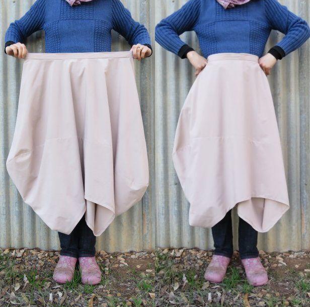 Clair skirt zero waste 108cm waist skirt long length