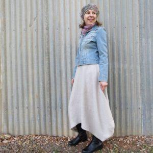 Clair skirt zero waste linen