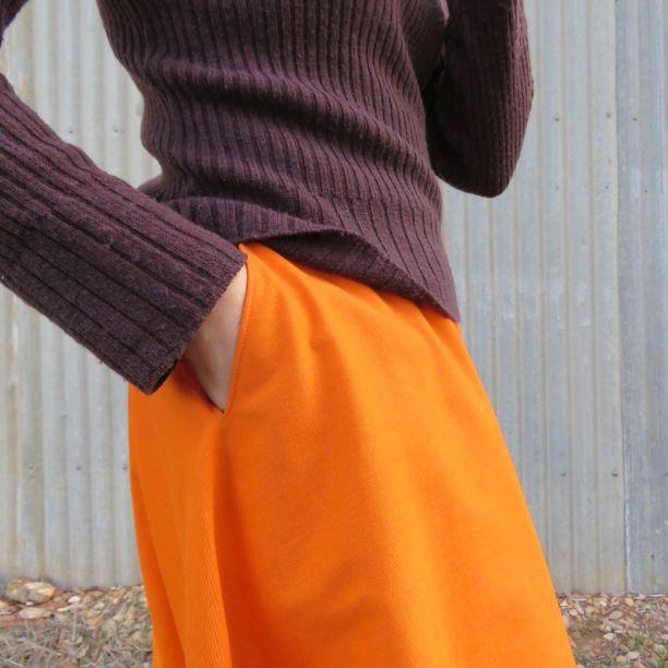 Clair skirt zero waste pocket
