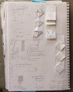 origami ribbon trim sketchbook