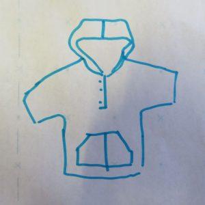 zero waste top sketch